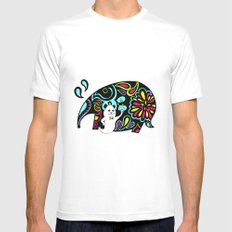 Elephank White Mens Fitted Tee SMALL