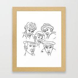 Tom Waits Whisky in a Teacup Framed Art Print
