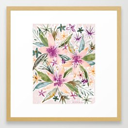 SMELLS LIKE INTOXICATION Lily Floral Framed Art Print