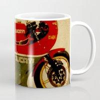 ducati Mugs featuring Ducati 900 MHR 1980 by Larsson Stevensem