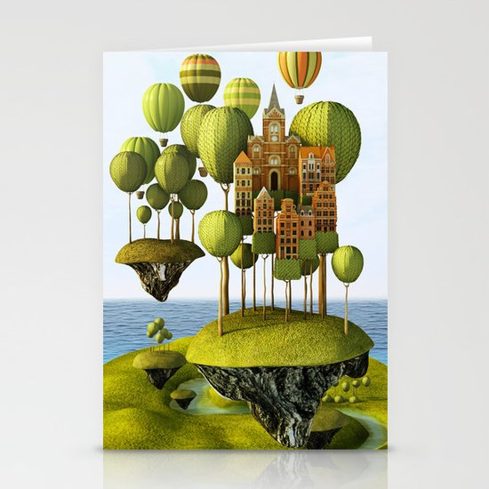 City in the Sky Stationery Cards