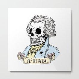 AHam Skull Metal Print