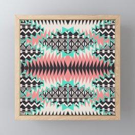 Tribal Beat Geo Pastel Framed Mini Art Print