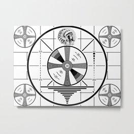 Indian-Head Test Pattern Metal Print