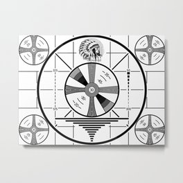 Indian-Head Test Pattern Metal Print