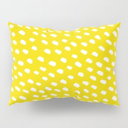 Brush Dot Pattern Yellow Pillow Sham