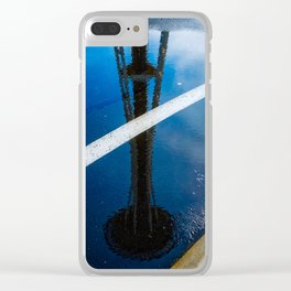 Needle Reflection Clear iPhone Case