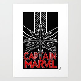 CaptainMarvel. - Alternative Movie Poster Art Print