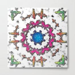 Alien Artefact Mandala Pattern Metal Print