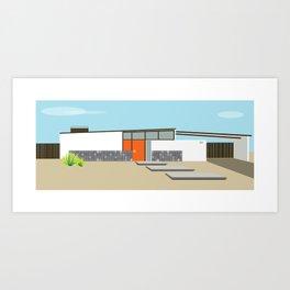 Mid Century Modern Palm Springs House 8 Art Print