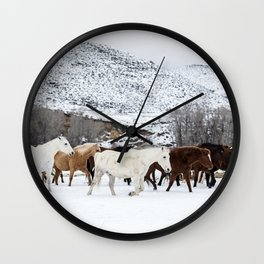 Carol Highsmith - Wild Horses Wall Clock