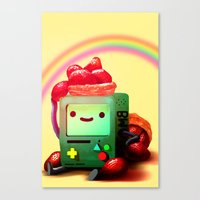 bmo Canvas Prints featuring BMO by Full Ten