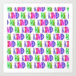 Be Kind Purples Pattern | Be Kind | Purple Pattern | Purple Art Print