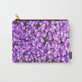 Pretty Purple Flowers, Purple Ground Cover, Beautiful Flowers Carry-All Pouch