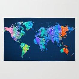 World Map 17 Rug