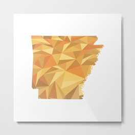Arkansas Pattern Map Art Metal Print