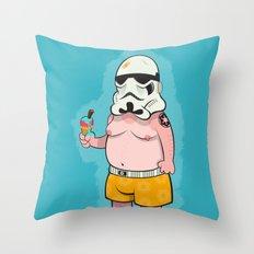 Trooper Blue Throw Pillow