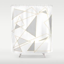 Duo of Triangles Shower Curtain