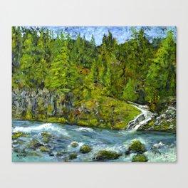 South Umpqua River, Oregon Canvas Print