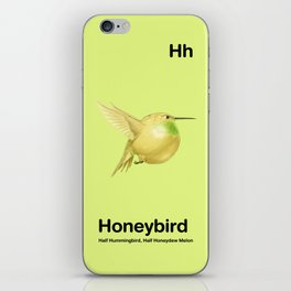 Hh - Honeybird // Half Hummingbird, Half Honeydew Melon iPhone Skin