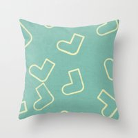 socks Throw Pillows featuring Socks by sinonelineman
