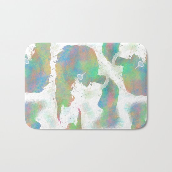 Pastel Silhouette Bath Mat
