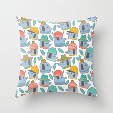 Pattern Project #38 / Dogs With Hats Throw Pillow