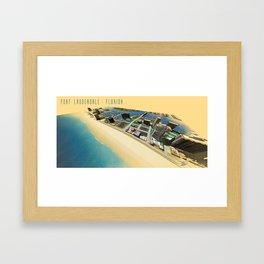 Fort Lauderdale Beach Framed Art Print