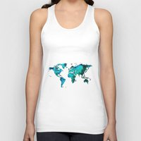 world maps Tank Tops featuring maps by StraySheep