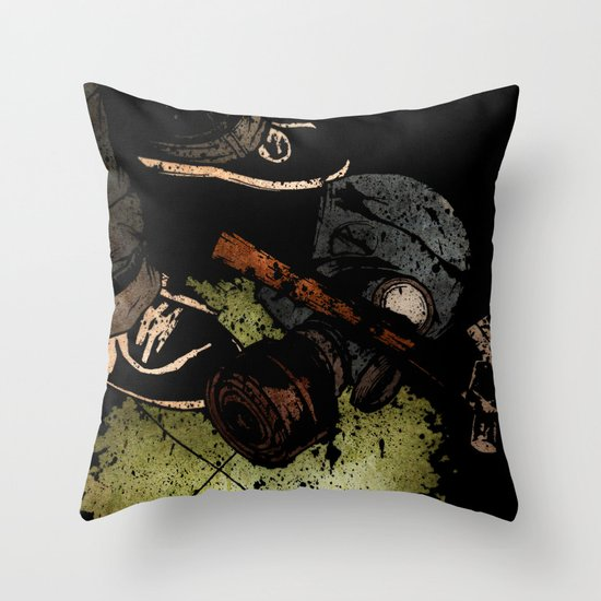 The Weapons Of War Throw Pillow