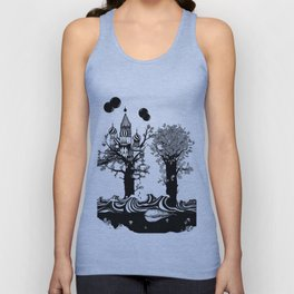 The Whale and The Balloons Unisex Tank Top