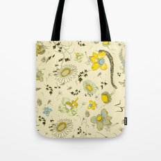 large flowers - cream and yellows Tote Bag