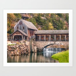 The Mill At Dogwood Canyon Park - Missouri Ozark Mountains Art Print
