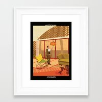 babina Framed Art Prints featuring mastroianni bonet by federico babina