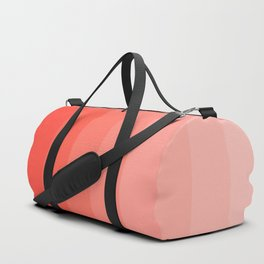 Shades of Living Coral From Hot Tomato Coral to Pale Blush Duffle Bag