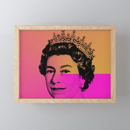 Queen Elizabeth II Framed Mini Art Print