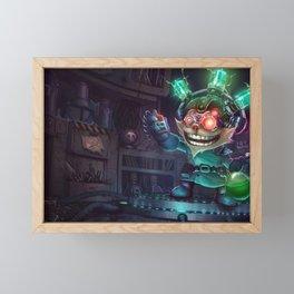 Mad Scientist Ziggs League of Legends Framed Mini Art Print