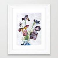 german Framed Art Prints featuring German Iris by Shinichi Imanaka