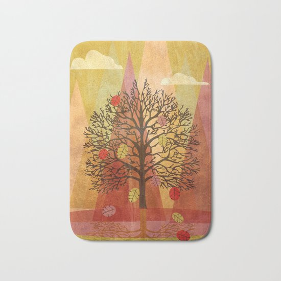 Autumn Tree Bath Mat