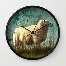 Vintage Sheep Wall Clock