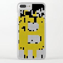 bitcoin tetris Clear iPhone Case