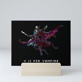 V is for Vampire Mini Art Print