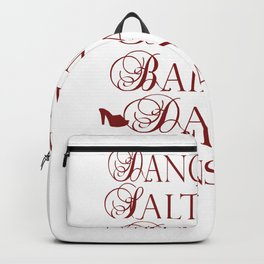 Dancer in multiple languages Romanian Portuguese Haitian Creole Latin Spanish Backpack