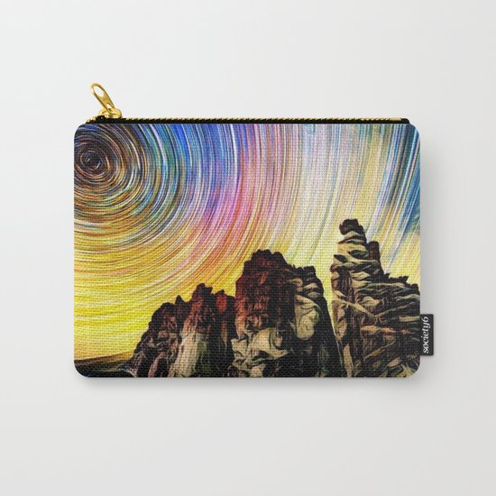 Epic Sunset Aurora Lights with Mountains and River Carry-All Pouch