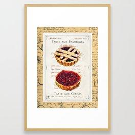 Pastries-Tartes Framed Art Print