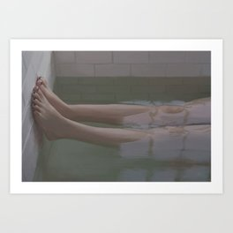 The bathtub II Art Print