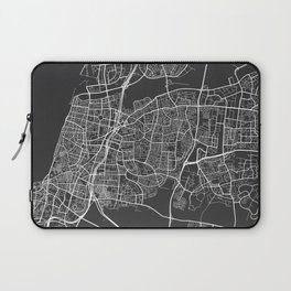 Tel Aviv Map, Israel - Gray Laptop Sleeve