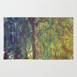 1918-Claude Monet-Weeping Willow-99 x 120 Rug