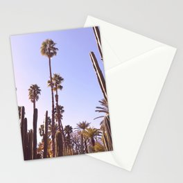 Palm trees, cactus and summer Stationery Cards
