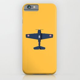 F6F Hellcat WWII Fighter Aircraft - French iPhone Case